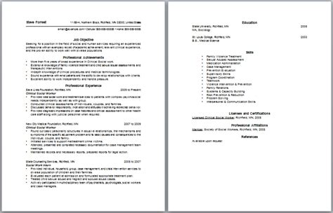 How To Create A Social Work Resume by Social Work Resume Objective Berathen