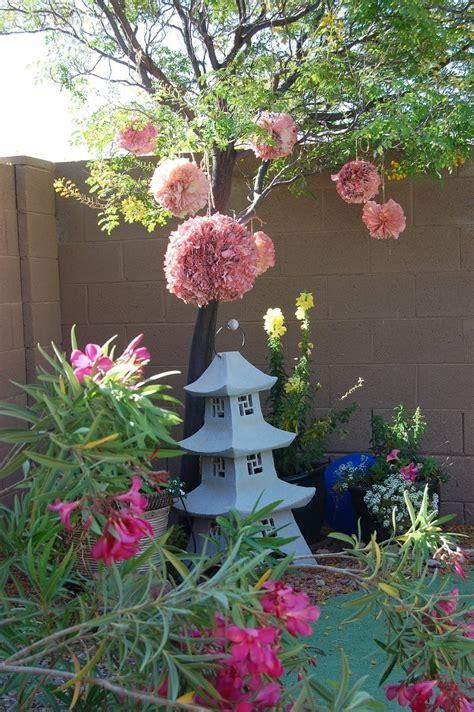 Garden Decoration by Outdoor Pom Pom Decorations 183 How To Make A Garden