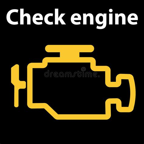 bypass check engine light emissions test check engine icon warning dashboard signs vector