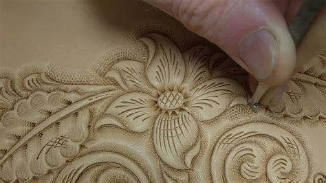 tooling  carving leather youtube