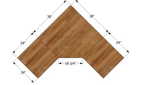 how to build a l hey ana diy corner desk plans one and 1 4 sheet plywood