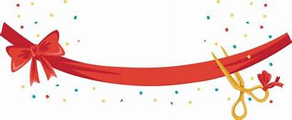 Opening Grand Ceremony Ribbon Transparent Clipart Banner