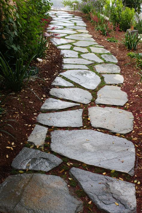 flagstones for garden meandering flagstone garden path contemporary landscape san luis obispo by sage