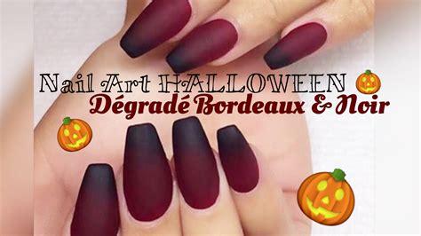 nail art halloween d 233 grad 233 bordeaux noir