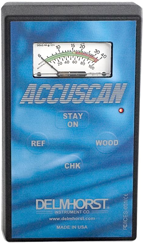 delmhorst accuscan moisture meter