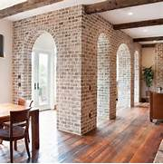 Brick Wall Interior House Whitewashed Interior Walls InMyInterior