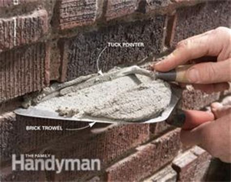 masonry how to repair mortar joints family handyman