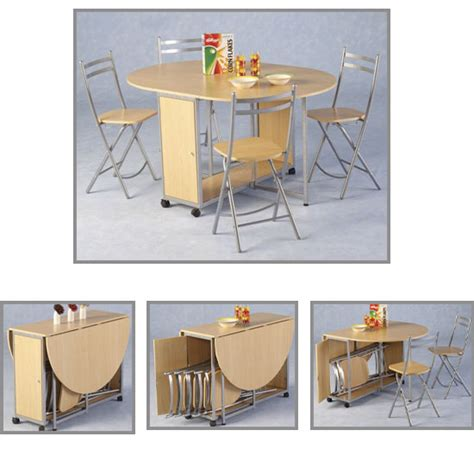 butterfly drop leaf table with 4 folding chairs another