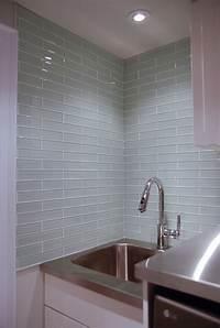 glass backsplash tiles Glass Tile Laundry Room Backsplash - Rambling Renovators