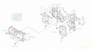 Subaru Svx Engine Timing Cover Gasket  Belt  Sealing  Seal