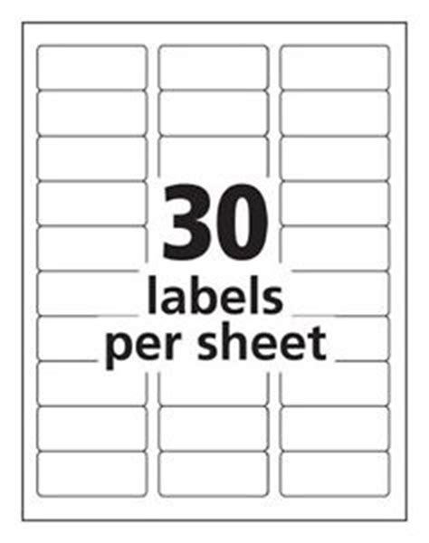 Blank Label Templates 30 Per Sheet by Search Results For Avery Labels 30 Per Sheet Template