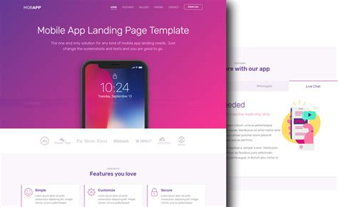 app landing page template creative free bootstrap 4 app landing page template with colors