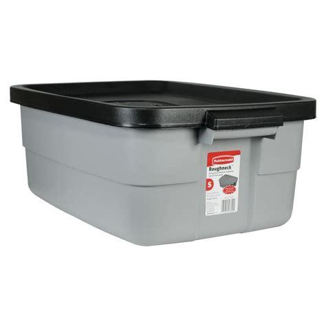 rubbermaid kitchen storage rubbermaid roughneck 10 gal storage tote fg2214tpmicbl 2035