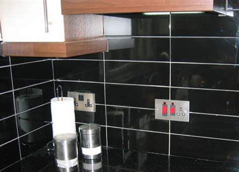 black kitchen wall tiles kitchen tiles azulejo nero brillo wall tile black 4726
