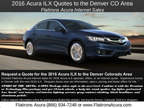 Flat Irons Acura by 2016 Acura Ilx Quotes To Denver Colorado Flatirons Acura