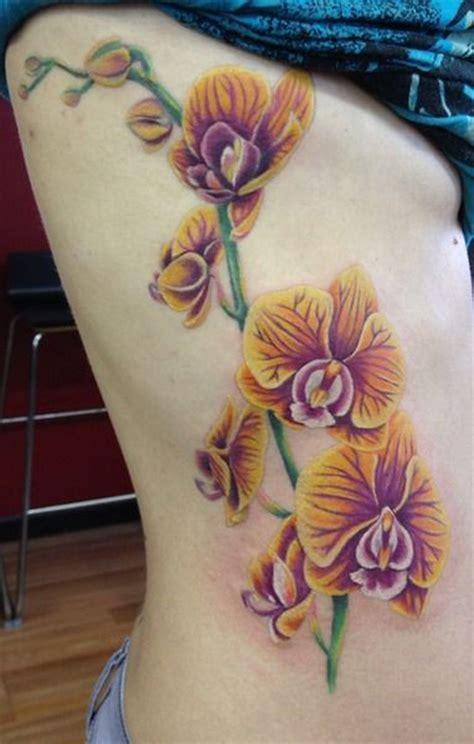 orchid side tattoo  tattoo design ideas