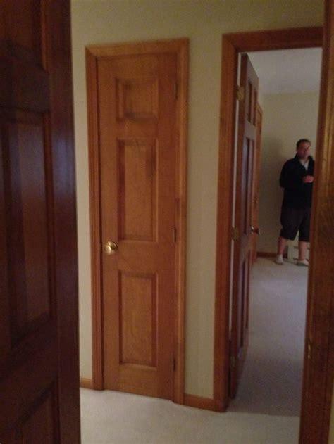 oak doors  white trim