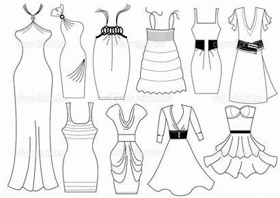 Coloring Pages Clothes Barbie Drawing Printable Draw