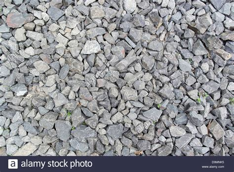 gray texture of crushed granite inhospitable but