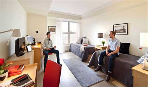 dorm style rooms student housing  york campus ice