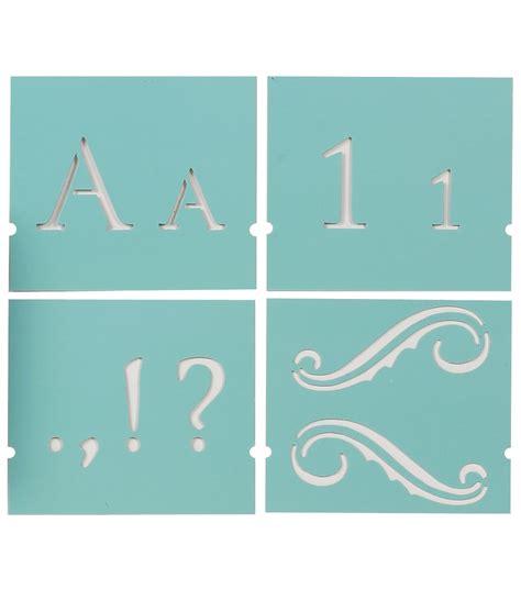 martha stewart large alphabet stencil monogram serif font size    joanncom