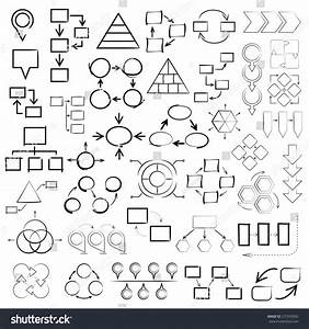 Vector Set Hand Drawn Diagrams Sketch Stock Vector
