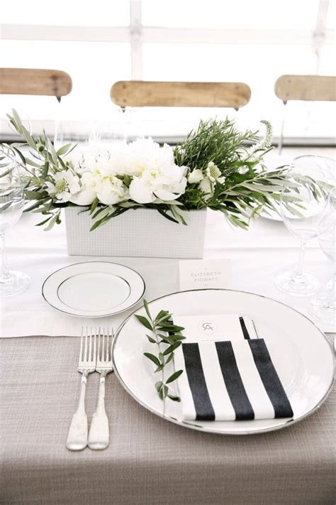 black and white entertaining essentials thanksgiving white napkins wedding decorations