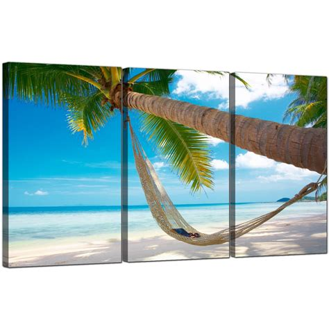 cheap tropical beach canvas prints uk  panel