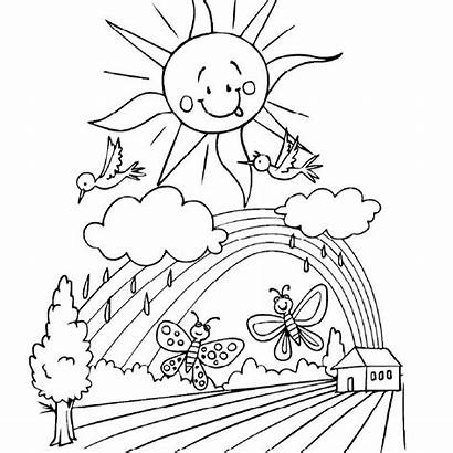 Coloring Spring Pages Farm