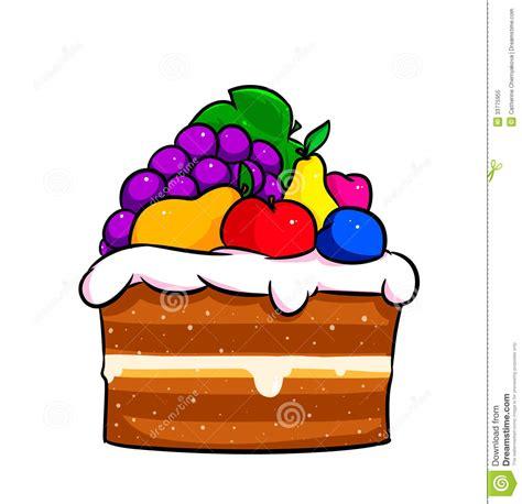 royalty  stock photo cake fruit cartoon image