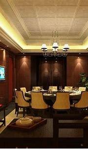 Modern Chinese Restaurant Interior Design With Red ...