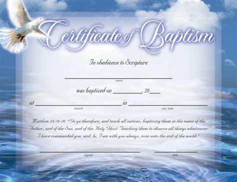 certificate  baptism certificates church supplies