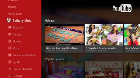 youtube  android tv apk   entertainment