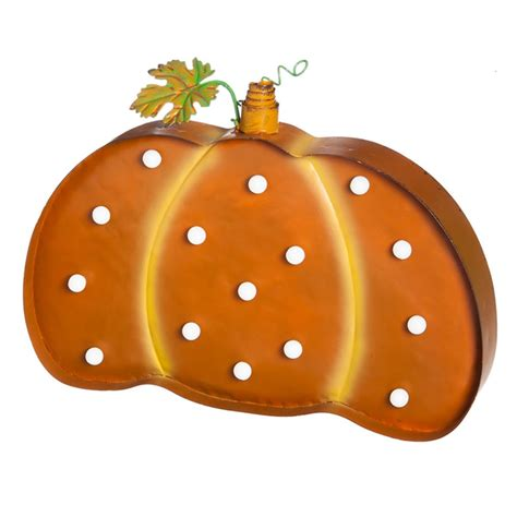 battery operated light up pumpkin outdoor wall hanging