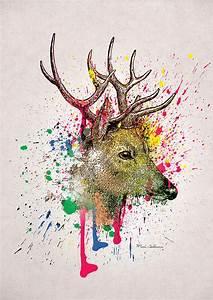 Deer Digital Art by Mark Ashkenazi