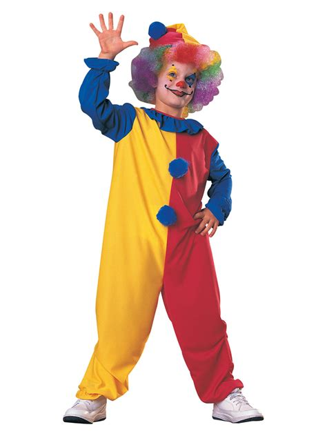 clown kids fancy dress  circus carnival boys girls child