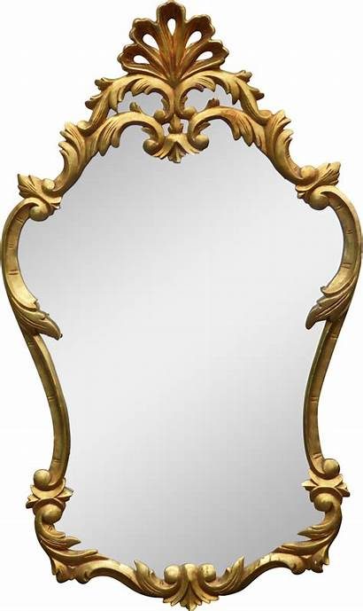 Mirror Gold Clipart Antique Frame French Rococo