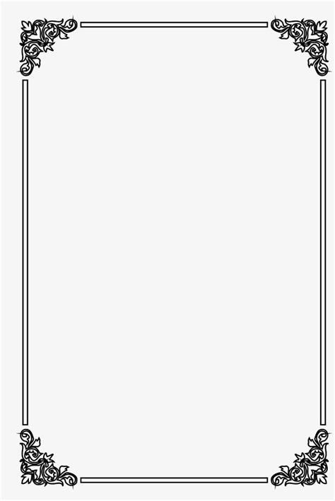 black vintage border frame shading borders pattern png  vector  transparent background