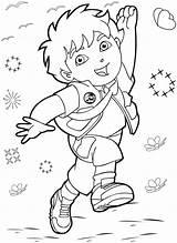 Diego Coloring Pages Go Dora Explorer Drawing Colouring Print Para Colorear Dibujos Printable Drawings Halloween La Exploradora Cartoon Cute Swiper sketch template