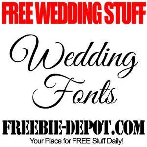 wedding font free wedding stuff fonts freebie depot