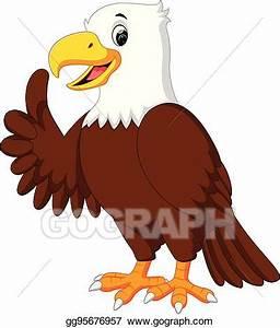 Vector Art - Cute eagle cartoon. Clipart Drawing ...