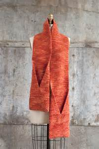 Free Knit Pattern Scarf with Pockets