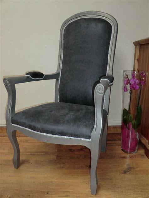 fauteuil de style voltaire gris et argent meubles et
