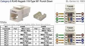 Wiring Diagram Cat 6 T56b Rj45 Keystone Jack