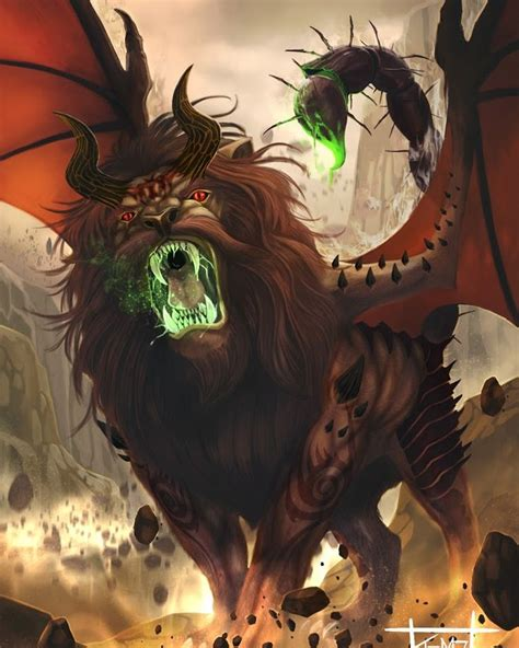 manticore mythical monsters manticore