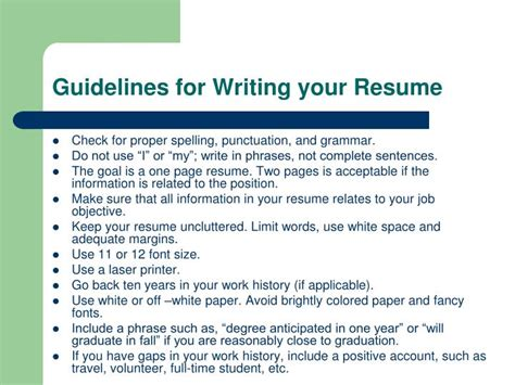 ppt resume writing workshop powerpoint presentation id