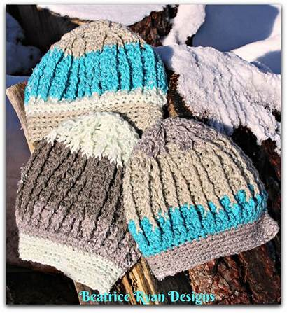Crochet Beanie Pattern Beatriceryandesigns Snowy Mountain