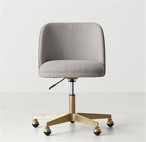 white tufted office chair white button tufted adjustable antiqued brass caster desk