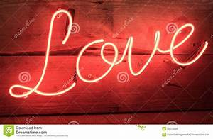 Red Neon Love Sign Stock Photo - Image: 55673350