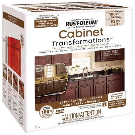 cabinet refinishing kit rust oleum cabinet transformations kit the home